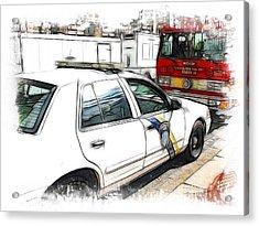 Philadelphia Police Car Acrylic Print by Fiona Messenger