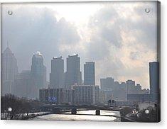 Philadelphia Schuylkill River View Acrylic Print by Bill Cannon
