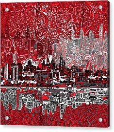 Philadelphia Skyline Abstract 4 Acrylic Print