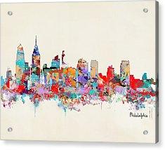 Philadelphia Skyline Acrylic Print by Bri B