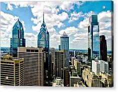 Philadelphia Skyline Acrylic Print by Frank Savarese