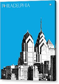 Philadelphia Skyline Liberty Place 1 - Ice Blue Acrylic Print by DB Artist