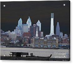 Philadelphia Skyline Acrylic Print by Lyric Lucas