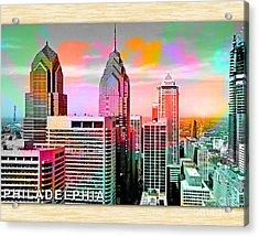 Philadelphia Skyline  Acrylic Print