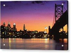 Philadelphia Skyline Acrylic Print by Retro Images Archive