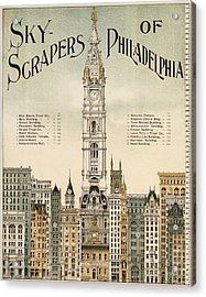 Philadelphia Skyscrapers Acrylic Print by Georgia Fowler