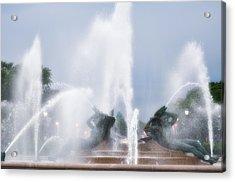 Philadelphia - Swann Memorial Fountain Acrylic Print by Bill Cannon