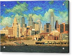 Philadelphia  Acrylic Print by Taylan Apukovska