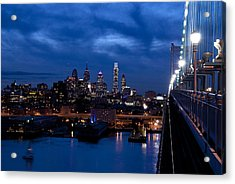 Philadelphia Twilight Acrylic Print by Jennifer Ancker