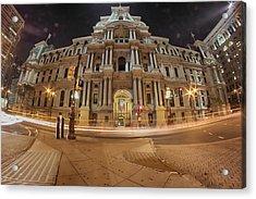 Philadelphia's Golden Glow  Acrylic Print