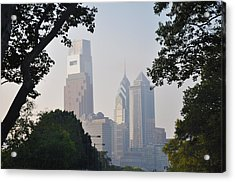 Philadelphia's Skyscrapers Acrylic Print by Bill Cannon