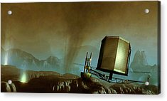 Philae Probe On Surface Of A Comet Acrylic Print by Mark Garlick