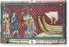 Philip II Arrives In Palestine Acrylic Print