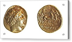 Philip II Gold Coin Acrylic Print by Science Photo Library