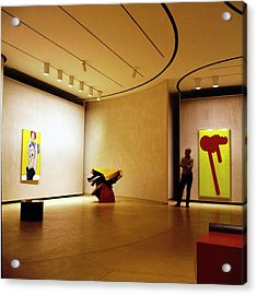 Philip Johnson In The Painting Gallery Acrylic Print
