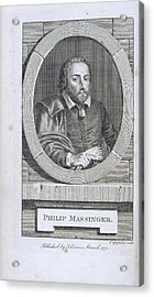 Philip Massinger Acrylic Print by British Library
