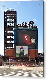 Phillies Citizens Bank Park - Baseball Stadium Acrylic Print by Bill Cannon