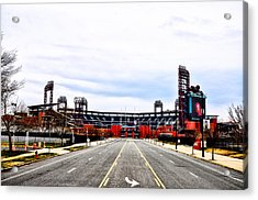 Phillies Stadium - Citizens Bank Park Acrylic Print by Bill Cannon
