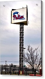 Phillies Stadium Sign Acrylic Print