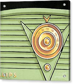 Phillips Radio - Green Acrylic Print
