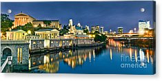 Philly Art Museum Night Acrylic Print