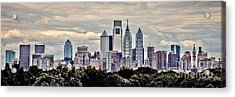 Philly In The Clouds Acrylic Print