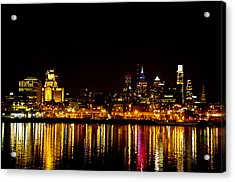 Philly Nights Acrylic Print by Bill Cannon