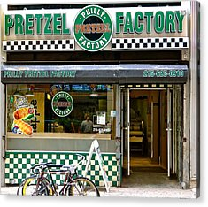 Philly Pretzel Factory Acrylic Print by Ira Shander
