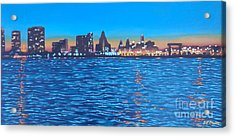 Philly Skyline Acrylic Print by Elisabeth Olver