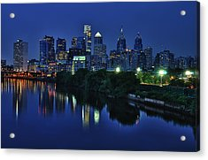Philly Skyline Acrylic Print by Mark Fuller