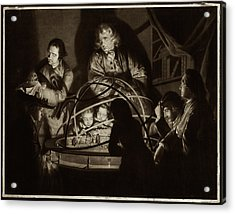 Philosopher Giving Lecture On The Orrery Acrylic Print by Museum Of The History Of Science/oxford University Images