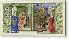 Philosophy Consoling Boethius And Fortune Turning The Wheel Acrylic Print