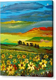 Acrylic Print featuring the painting Philosophy Of Colors by Ray Khalife