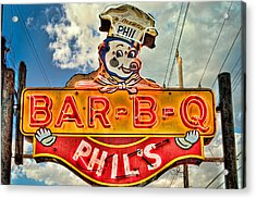 Phils Barbeque Acrylic Print by Robert  FERD Frank