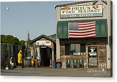 Phils Fish Market Moss Landing Acrylic Print by Artist and Photographer Laura Wrede