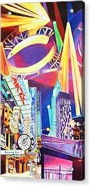 Phish New Years In New York Left Panel Acrylic Print by Joshua Morton