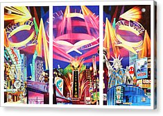 Phish New York For New Years Triptych Acrylic Print