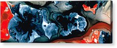 Phoenix Abstract Art By Sharon Cummings Acrylic Print by William Patrick