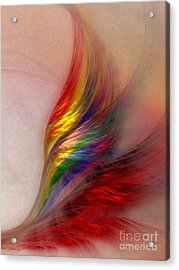 Phoenix-abstract Art Acrylic Print by Karin Kuhlmann