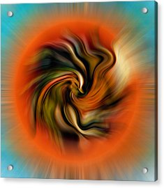 Phoenix Acrylic Print by Alessandro Della Pietra