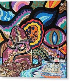 Phoenix Acrylic Print by Carlos Martinez