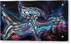 Acrylic Print featuring the digital art Phoenix by Richard Thomas