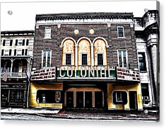 Phoenixville's Colonial Theater Acrylic Print by Bill Cannon