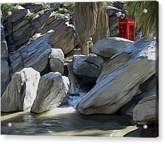 Phone Booth Acrylic Print by Snake Jagger