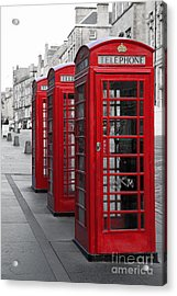 Phone Boxes On The Royal Mile Acrylic Print