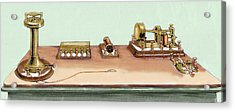 Phonoplex Telegraph Invented By Thomas Acrylic Print