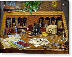 Photographers Desk 1939 Acrylic Print