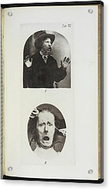 Photographs By Dr Duchenne Acrylic Print by British Library