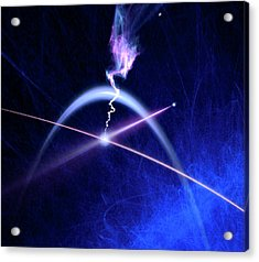 Photon Interacting With Electron Acrylic Print by Richard Kail
