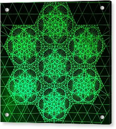 Photon Interference Fractal Acrylic Print